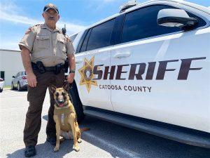 Sheriff K9 Fraya with Deputy Tony Pinson
